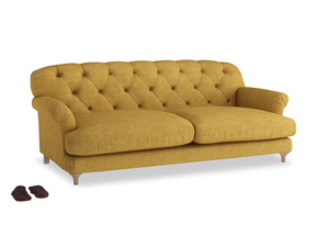 Large Truffle Sofa in Mellow Yellow Clever Laundered Linen