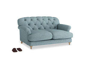 Small Truffle Sofa in Soft Blue Clever Laundered Linen