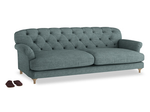 Extra large Truffle Sofa in Anchor Grey Clever Laundered Linen