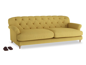 Extra large Truffle Sofa in Easy Yellow Clever Woolly Fabric