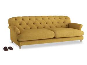 Extra large Truffle Sofa in Mellow Yellow Clever Laundered Linen