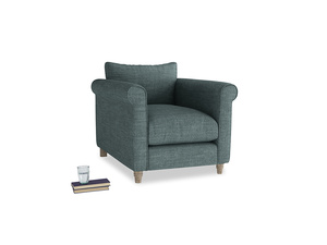 Weekender Armchair in Anchor Grey Clever Laundered Linen