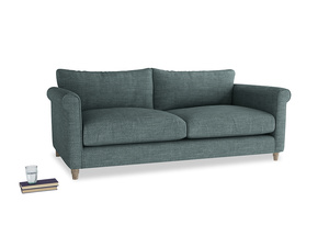 Large Weekender Sofa in Anchor Grey Clever Laundered Linen
