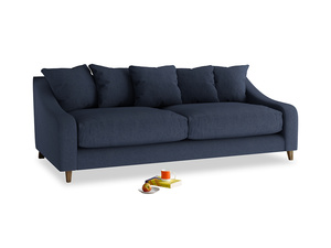 Large Oscar Sofa in Night Owl Blue Clever Woolly Fabric