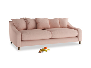 Large Oscar Sofa in Pale Pink Clever Woolly Fabric