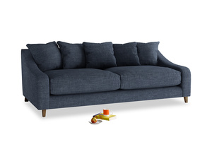 Large Oscar Sofa in Selvedge Blue Clever Laundered Linen