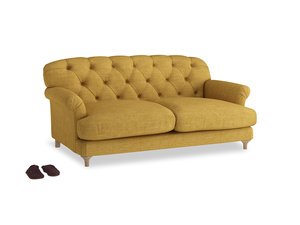 Medium Truffle Sofa in Mellow Yellow Clever Laundered Linen