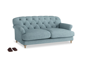 Medium Truffle Sofa in Soft Blue Clever Laundered Linen