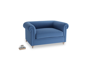 Humblebum Love Seat in English blue Brushed Cotton