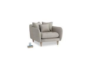 Skinny Minny Armchair in Grey Daybreak Laundered Linen