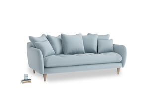 Large Skinny Minny Sofa in Soothing blue washed cotton linen
