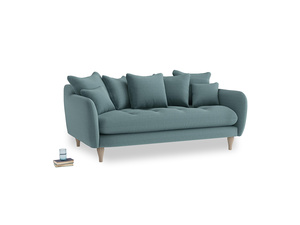 Medium Skinny Minny Sofa in Marine washed cotton linen
