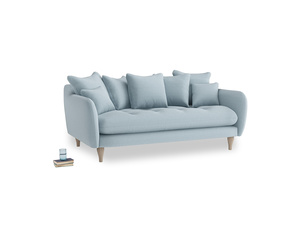 Medium Skinny Minny Sofa in Soothing blue washed cotton linen