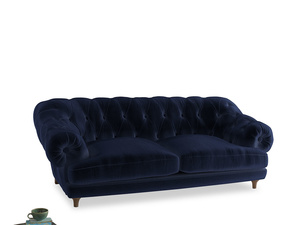 Large Bagsie Sofa in Goodnight blue Clever Deep Velvet