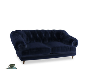 Medium Bagsie Sofa in Goodnight blue Clever Deep Velvet