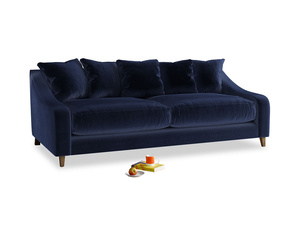 Large Oscar Sofa in Goodnight blue Clever Deep Velvet