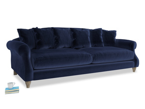 Extra large Sloucher Sofa in Goodnight blue Clever Deep Velvet