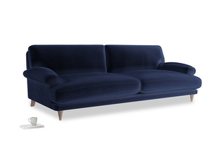 Extra large Slowcoach Sofa in Goodnight blue Clever Deep Velvet