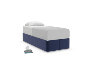 Single Store Storage Bed in Goodnight blue Clever Deep Velvet