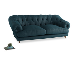 Large Bagsie Sofa in Harbour Blue Vintage Linen
