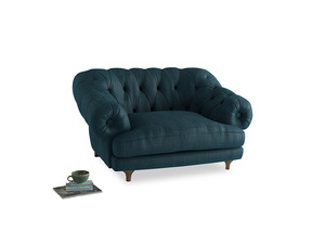 Bagsie Love Seat in Harbour Blue Vintage Linen