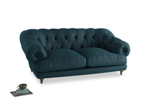 Medium Bagsie Sofa in Harbour Blue Vintage Linen