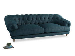Extra large Bagsie Sofa in Harbour Blue Vintage Linen