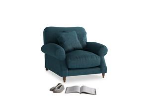 Crumpet Armchair in Harbour Blue Vintage Linen