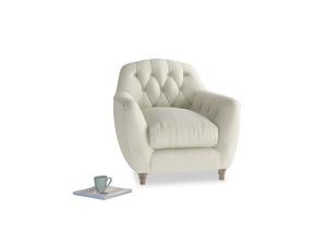 Butterbump Armchair in Stone Vintage Linen