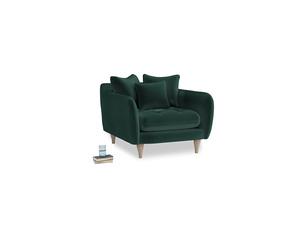 Skinny Minny Armchair in Dark green Clever Velvet