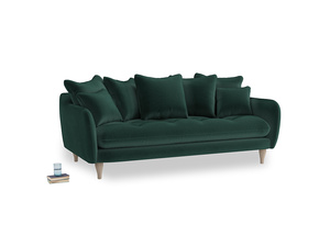 Large Skinny Minny Sofa in Dark green Clever Velvet