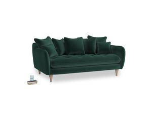 Medium Skinny Minny Sofa in Dark green Clever Velvet