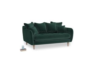 Small Skinny Minny Sofa in Dark green Clever Velvet