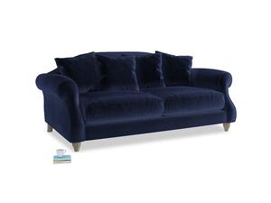Medium Sloucher Sofa in Goodnight blue Clever Deep Velvet