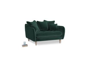 Skinny Minny Love Seat in Dark green Clever Velvet
