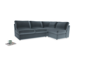 Large right hand Chatnap modular corner storage sofa in Odyssey Clever Deep Velvet