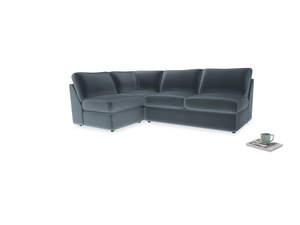 Large left hand Chatnap modular corner storage sofa in Odyssey Clever Deep Velvet