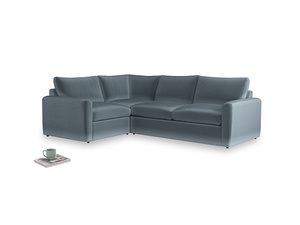 Large left hand Chatnap modular corner storage sofa in Odyssey Clever Deep Velvet with both arms