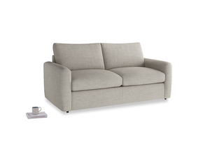 Chatnap Sofa Bed in Grey Daybreak Clever Laundered Linen with both arms