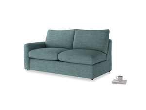 Chatnap Sofa Bed in Blue Turtle Clever Laundered Linen with a left arm