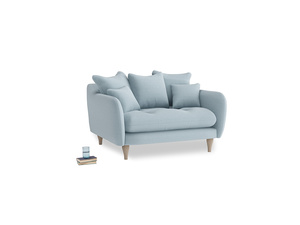 Skinny Minny Love Seat in Soothing blue washed cotton linen