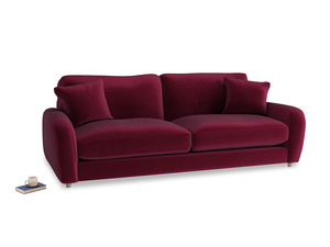 Large Easy Squeeze Sofa in Merlot Plush Velvet