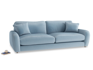 Extra large Easy Squeeze Sofa in Chalky blue vintage velvet