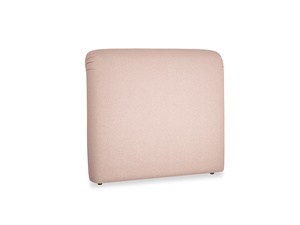 Double Cookie Headboard in Pale Pink Clever Woolly Fabric