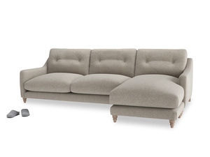 XL Right Hand  Slim Jim Chaise Sofa in Birch wool