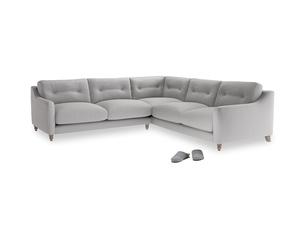 Even Sided Slim Jim Corner Sofa in Flint brushed cotton