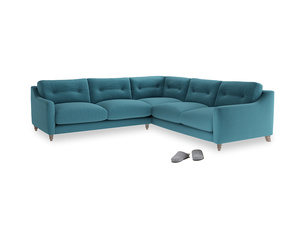 Even Sided Slim Jim Corner Sofa in Lido Brushed Cotton