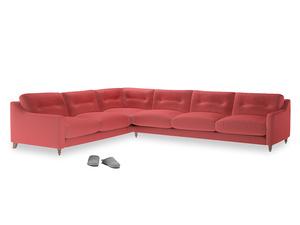 Xl Left Hand Slim Jim Corner Sofa in Carnival Clever Deep Velvet