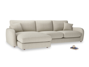 XL Left Hand  Easy Squeeze Chaise Sofa in Thatch house fabric