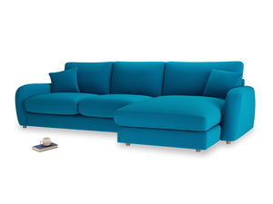 XL Right Hand  Easy Squeeze Chaise Sofa in Bermuda Brushed Cotton